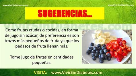 frutas recomendadas  diabeticos  frutas puede comer  diabetico youtube