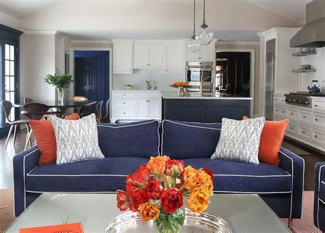 Blue And Orange Living Room by Orange Blue Living Room Modern House