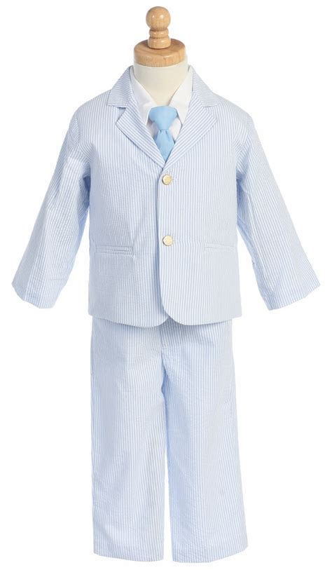 boys light blue suit light blue boys striped seersucker suit