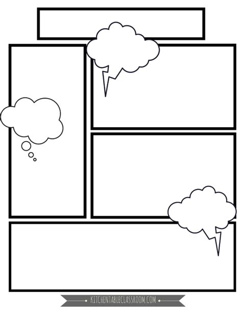 Comic Book Templates In Homeschool Writing The Kitchen Table Classroom Book Template For Pages