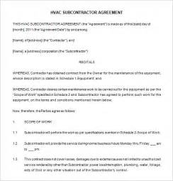 hvac maintenance agreement template maintenance contract template cleaning contract