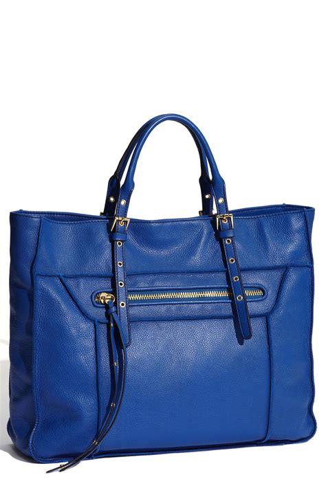 Steve Madden Tote by Steven By Steve Madden Leather Tote In Blue Blueberry Lyst