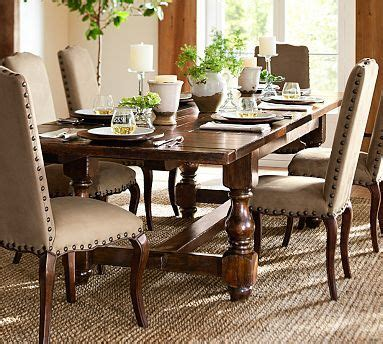 Pottery Barn Kitchen Tables by Burlap Chair A Well And Table And Chairs On