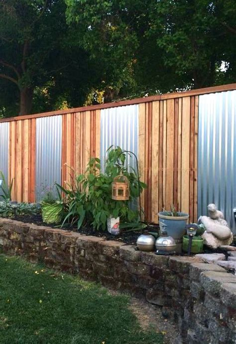 sheet metal garden 25 best ideas about corrugated metal fence on