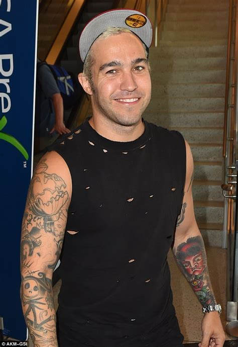 pete wentz tattoo show pete wentz shows tattooed physique after south