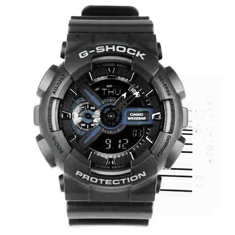 G Shock Ga 110 Gshock Ga110 Warna Black 1 ga 110 1bdr ga110 casio g shock world time alarm analog digital