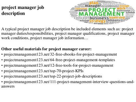 project manager description