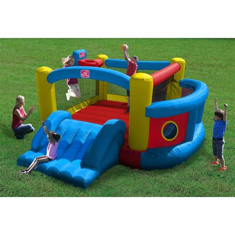 step 2 playground toys r us step 2 fort bounce with slide w ul approved blower