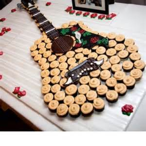 groom s cake guitar made of cupcakes wedding ideas pinterest dark grooms and colors