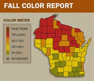 wi fall color report map of the week map of the weekend your fall foliage