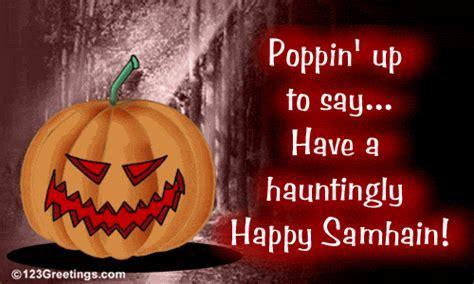 Hauntingly Happy Samhain! Free Samhain eCards, Greeting