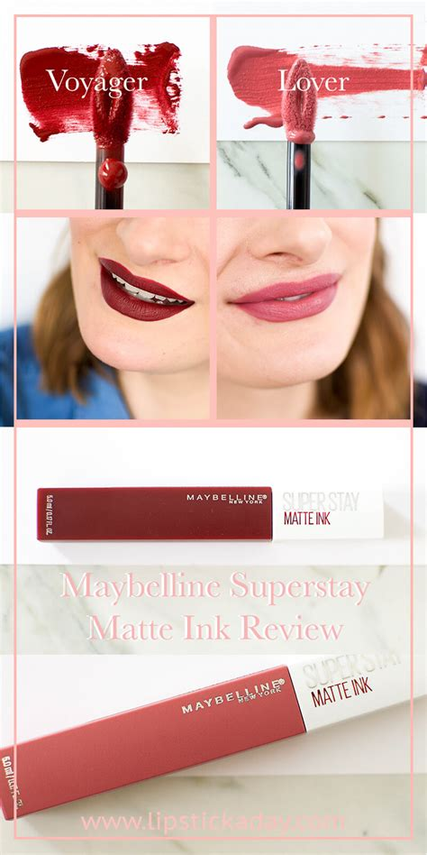 Maybelline Lip Matte maybelline superstay matte ink review swatches lipstick