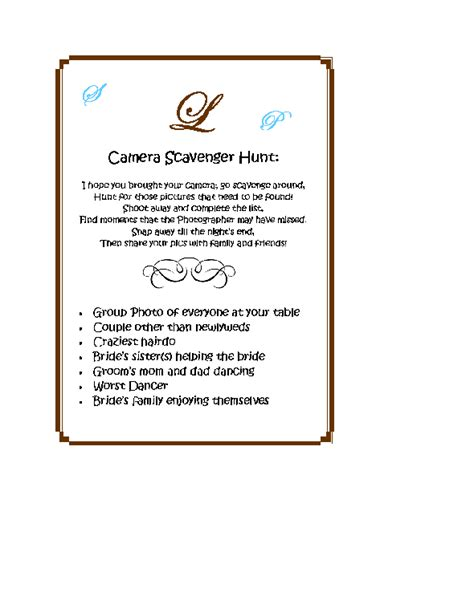 Photo Scavenger Hunt Weddingbee Photo Gallery Wedding Photo Scavenger Hunt Template