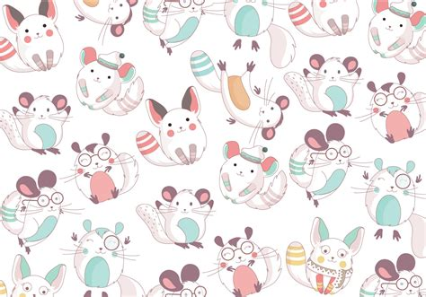 cute pattern vector free chinchilla cute pattern vector download free vector art