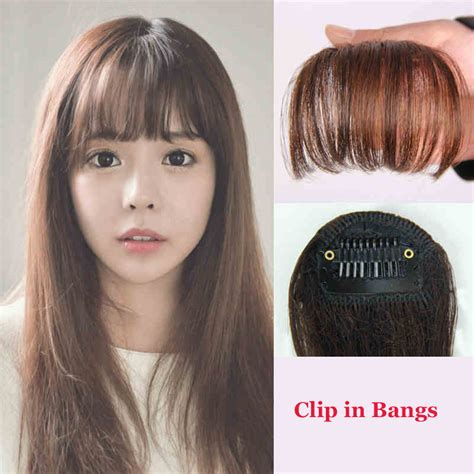 hair piecis and bangs hair clip in bangs fake hair extension false hair piece