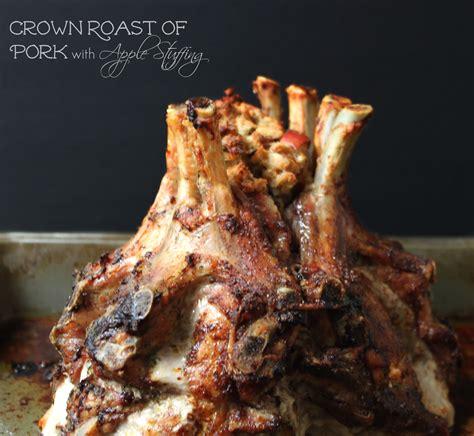 national crown roast  pork day crown roast  apple stuffing  foodie patootie