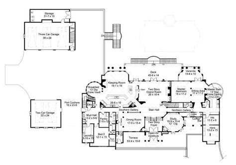 1 Bedroom Guest House Floor Plans chateau de lanier 1838 6 bedrooms and 6 baths the