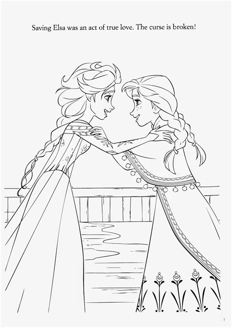 elsa magic coloring page only coloring pages