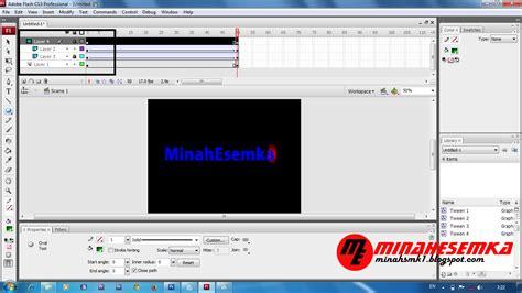 cara membuat video animasi flash cara membuat animasi teks dengan motion tween di flash