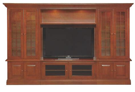 Handmade Entertainment Units - handmade 6200 wall unit entertainment center in cherry by