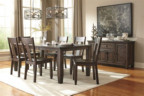 signature design by ashley chimerin casual dining room set signature design by ashley trudell casual dining room
