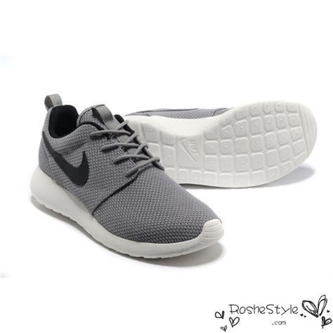 grey and black nike running shoes nike roshe run womens mens shoes gray black white