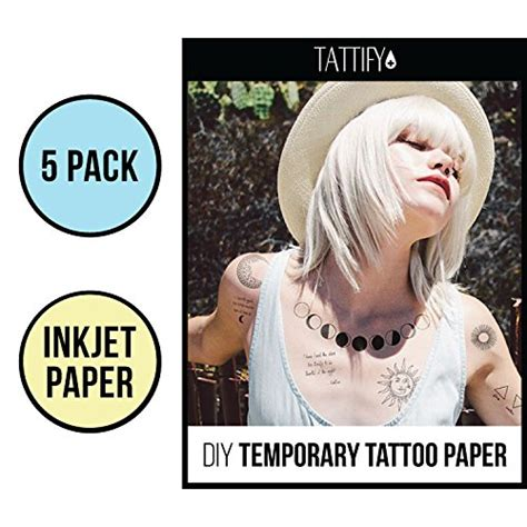 inkjet tattoo paper bundle cool 5pc diy printable