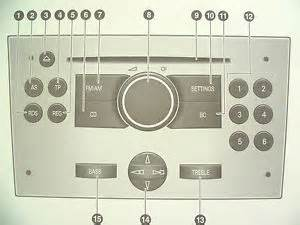 Vauxhall Astra Radio Manual Vauxhall Corsa Astra Meriva Zafira Tigra Audio Cd 30 Mp3