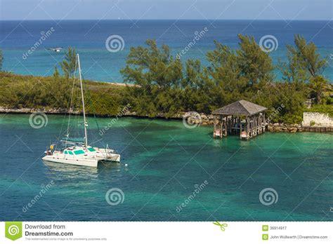 paradise island catamaran cruises catamaran in bahamas royalty free stock photography