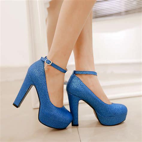 thick high heel pumps new fashion toe thick heel platform high heels