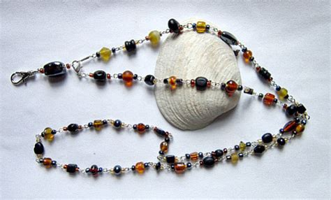 glass bead lanyards beaded lanyard glass bead and seed bead lanyard by