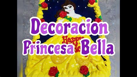 decorar los pasteles decoracion princesa bella aprende hacer esta tecnica en