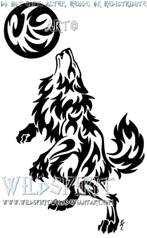 werewolf tribal tattoo and moon by wildspiritwolf on deviantart