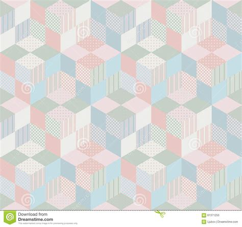 Geometric Patchwork Patterns - seamless geometric patchwork pattern in pastel tones