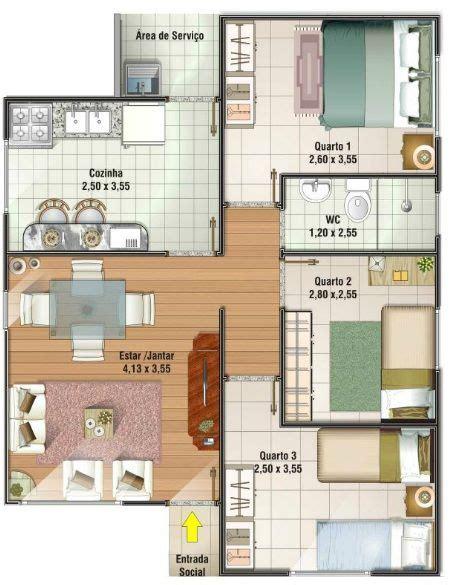planos de casas pequenas pictures to pin on pinterest planos de casas sencillas de 3 habitaciones buscar con