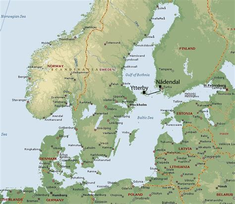 aland islands map map of 197 land finland hvdc light link