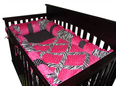 Pink And Zebra Crib Bedding Baby Boutique Pink Zebra 13 Pcs Crib Bedding Set Ebay