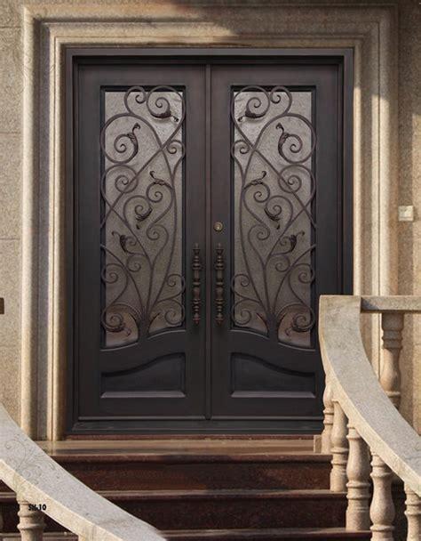 Iron Exterior Doors Wrought Iron Steel Entry Doors Building Material