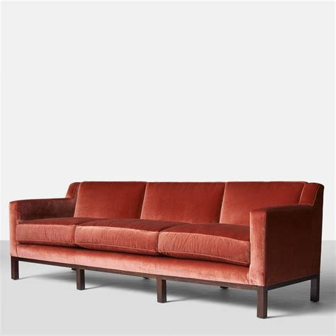 curved back sofa edward wormley for dunbar curved back sofa for sale at 1stdibs