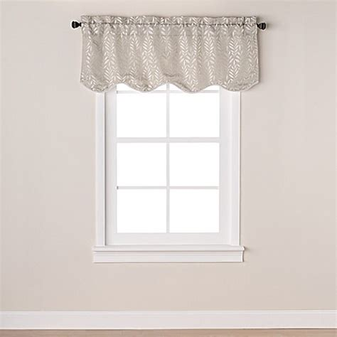 bed bath and beyond westchester westchester scalloped window valance bed bath beyond