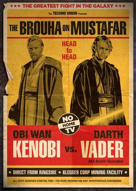 imagenes retro de star wars bad ass movie posters star wars retro fight posters