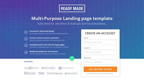 35 Best Landing Page Design Templates 2016 Web Graphic Design Bashooka Best Landing Page Templates