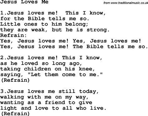 Printable Lyrics Jesus Loves Me   country southern and bluegrass gospel song jesus loves me