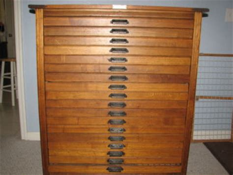 Printers Cabinet by 18 Drawer Printers Cabinet Hamilton Mfg Antique