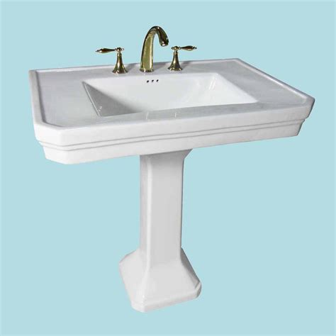 pedestal sink faucets white china victorian pedestal sink 8 quot widespread