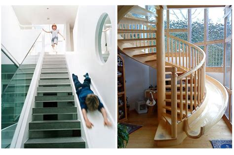 Cool Home Interior Designs staircase slides best parents ever mommy shorts