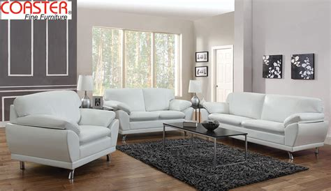 white leather living room set coaster robyn 3pc living room set504540 set home