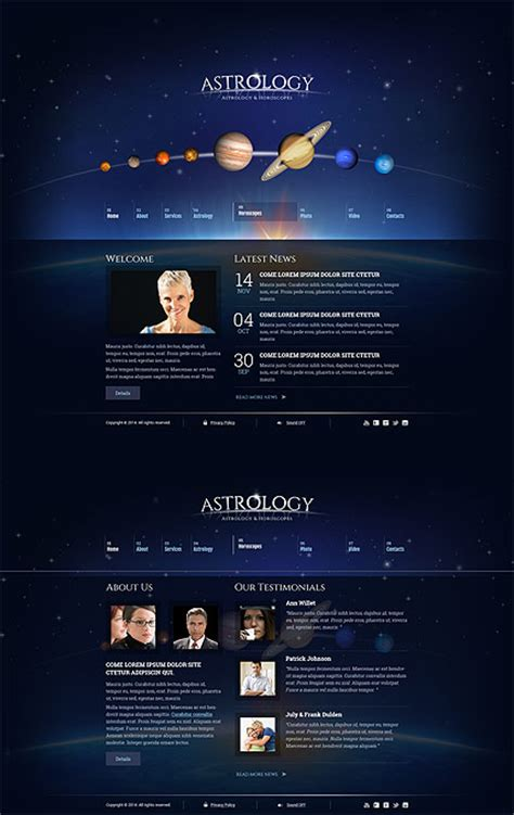 Astrology Html5 Template Best Website Templates Html5 Animated Website Templates