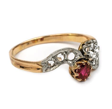 fab antique ruby and ring fidra jewellers