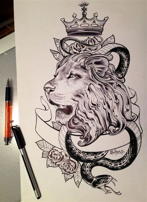 lion heart tattoo sketch tattoos inspiration